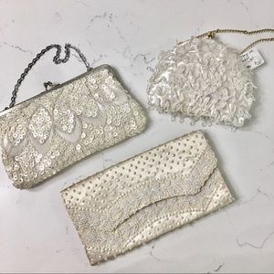 Vintage • Lot of 3 beaded evening bags •